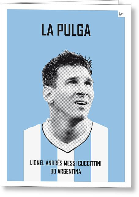 Rio Greeting Cards - My Messi soccer legend poster Greeting Card by Chungkong Art