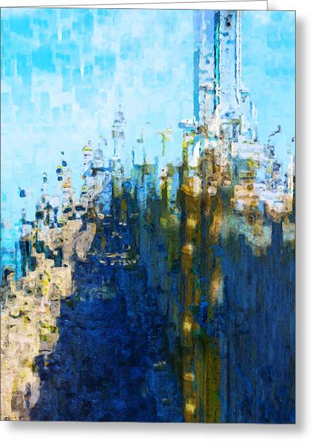 Dwelling Digital Art Greeting Cards - My Midtown Tomorrow Greeting Card by Jack Zulli