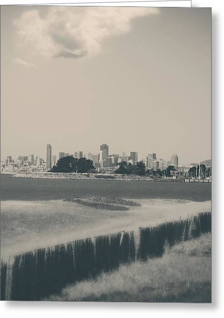 San Francisco Bay Greeting Cards - My Mind Knows No Quiet Greeting Card by Laurie Search