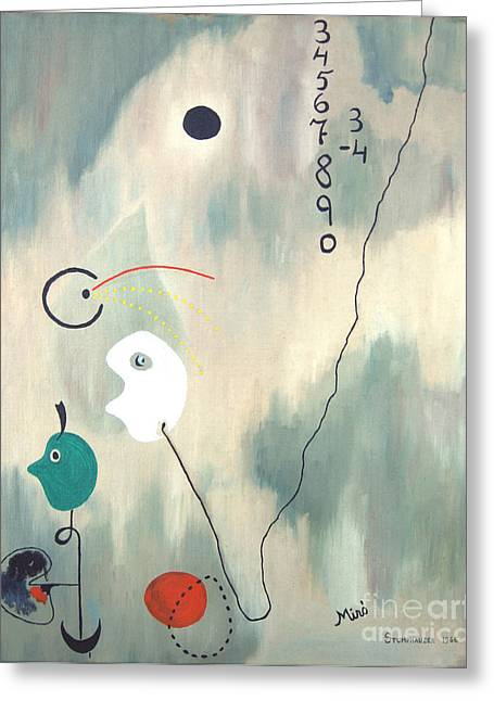 Jerome Stumphauzer Greeting Cards - My Miro Greeting Card by Jerome Stumphauzer