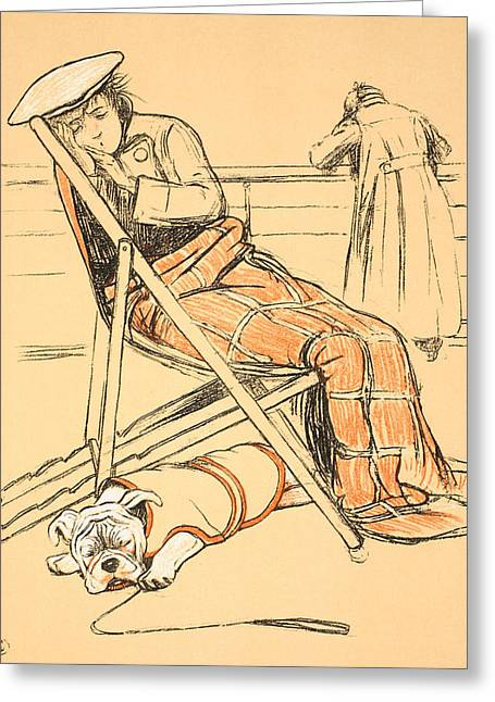Sit-ins Drawings Greeting Cards - My Miserable Mistress Greeting Card by Cecil Charles Windsor Aldin