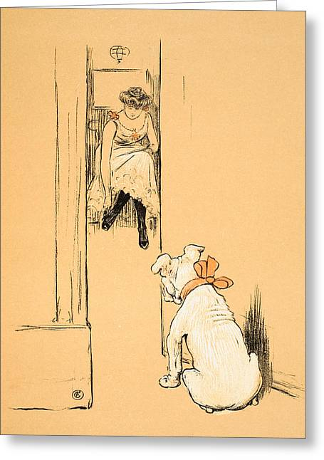 Puppies Pastels Greeting Cards - My Mistress Dressing Greeting Card by Cecil Charles Windsor Aldin