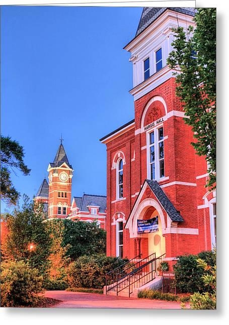 Alabama Campus Greeting Cards - My Morning Walk Greeting Card by JC Findley