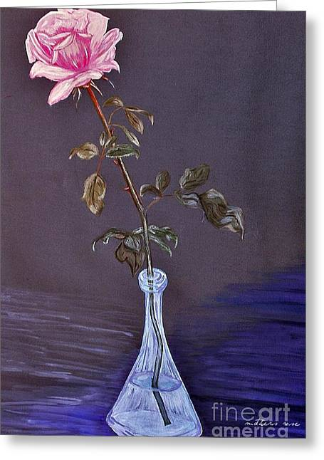 Water Jug Greeting Cards - My Mothers Rose Greeting Card by Nina Ficur Feenan