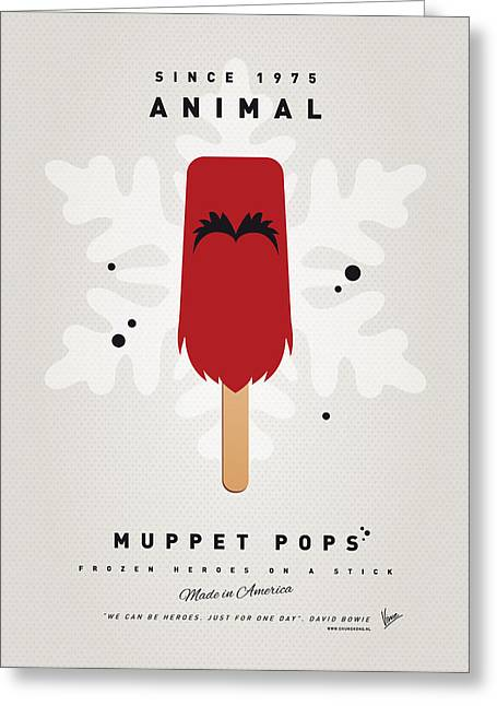 Kids Books Greeting Cards - My MUPPET ICE POP - Animal Greeting Card by Chungkong Art