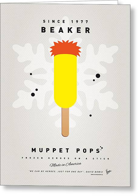 Kids Books Greeting Cards - My MUPPET ICE POP - Beaker Greeting Card by Chungkong Art