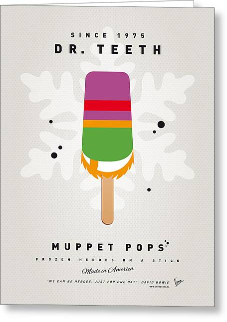 Kids Books Greeting Cards - My MUPPET ICE POP - Dr Teeth Greeting Card by Chungkong Art