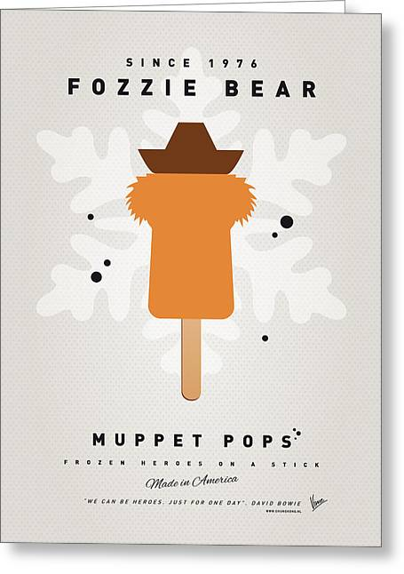 My Muppet Ice Pop - Fozzie Bear Greeting Card by Chungkong Art