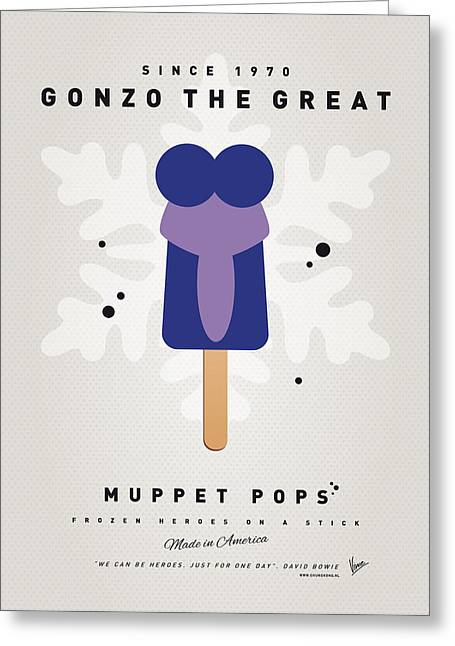 Kids Books Greeting Cards - My MUPPET ICE POP - Gonzo Greeting Card by Chungkong Art