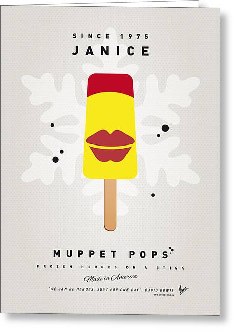 My Muppet Ice Pop - Janice Greeting Card by Chungkong Art