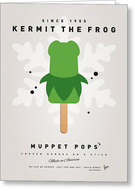 Kids Books Greeting Cards - My MUPPET ICE POP - Kermit Greeting Card by Chungkong Art