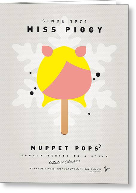 Kids Books Greeting Cards - My MUPPET ICE POP - Miss Piggy Greeting Card by Chungkong Art