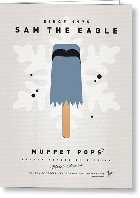 Kids Books Greeting Cards - My MUPPET ICE POP - Sam the eagle Greeting Card by Chungkong Art