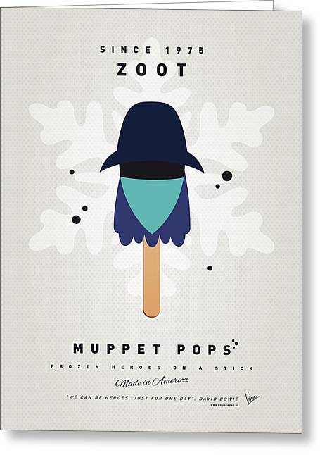 Game Digital Art Greeting Cards - My MUPPET ICE POP - Zoot Greeting Card by Chungkong Art