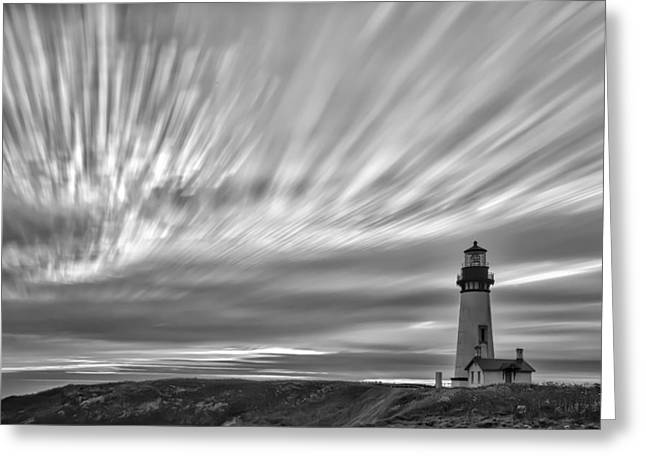 Ocean Black And White Prints Greeting Cards - My Muse Greeting Card by Jon Glaser