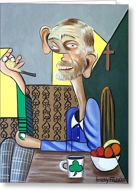 Old Framed Prints Greeting Cards - My Neighbor Joe Greeting Card by Anthony Falbo