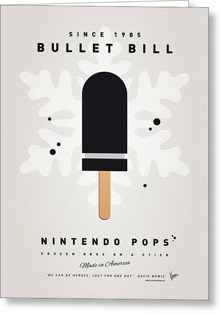 Mushrooms Greeting Cards - My NINTENDO ICE POP - Bullet Bill Greeting Card by Chungkong Art