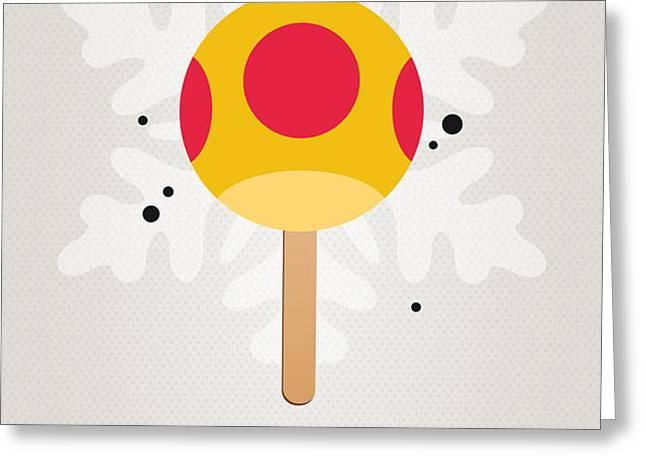 My NINTENDO ICE POP - Mega Mushroom Greeting Card by Chungkong Art