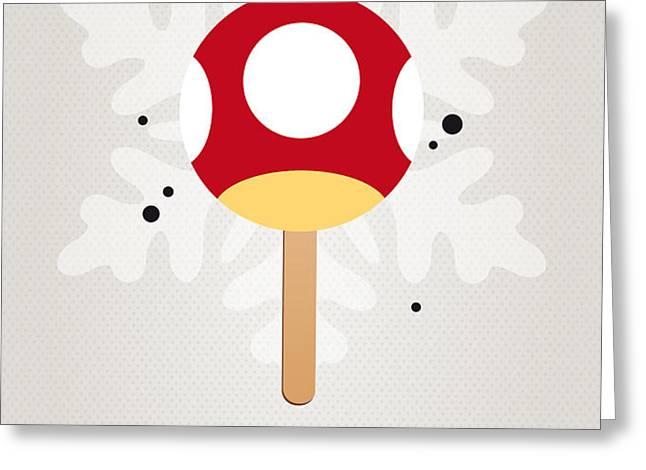 My NINTENDO ICE POP - Mushroom Greeting Card by Chungkong Art