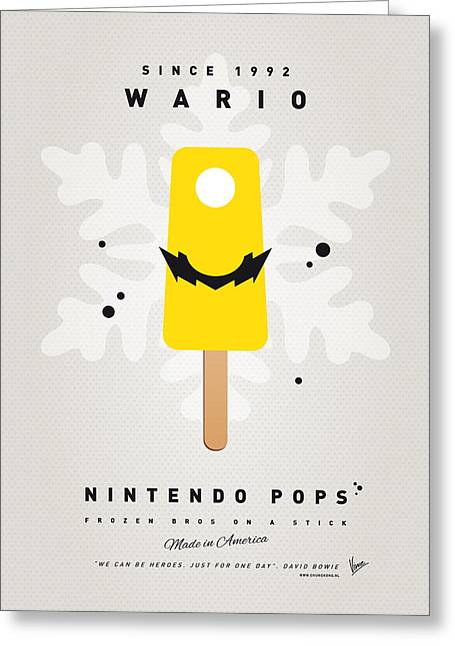 Level Greeting Cards - My NINTENDO ICE POP - Wario Greeting Card by Chungkong Art