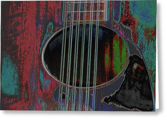 My Old Daion 12 String Guitar Greeting Card by Alec Drake