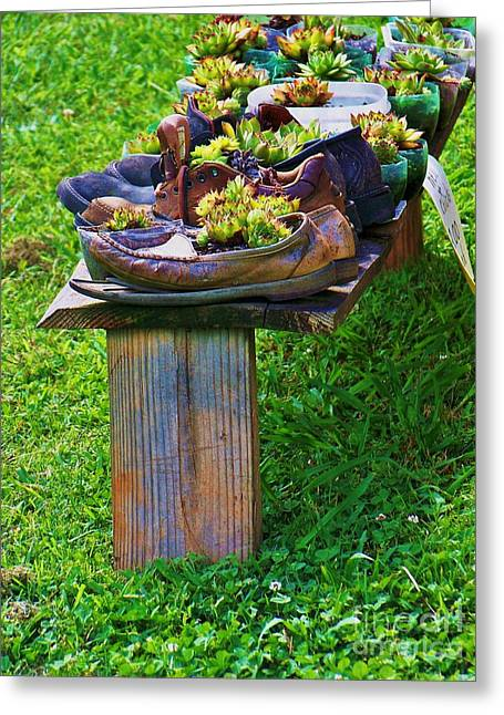 Print Photographs Greeting Cards - My Old Shoes Greeting Card by Chuck  Hicks
