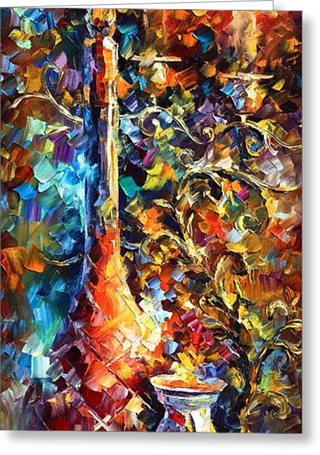 Glass Cup Greeting Cards - My old Thoughts 2 Greeting Card by Leonid Afremov