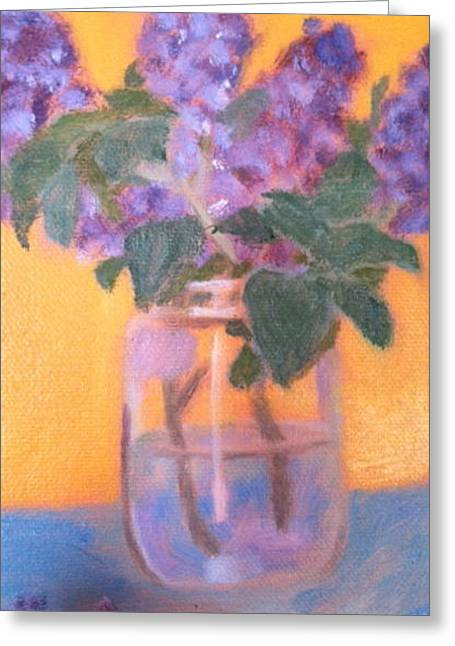 Recently Sold -  - Water Jars Greeting Cards - My Own Lilacs Greeting Card by Molly Fisk