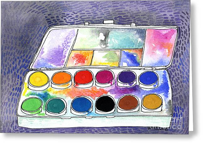 Paintbox Greeting Cards - My Paintbox Greeting Card by Linda  K Yates