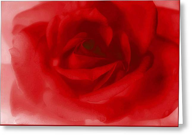 My Painted Love Greeting Card by  The Art Of Marilyn Ridoutt-Greene