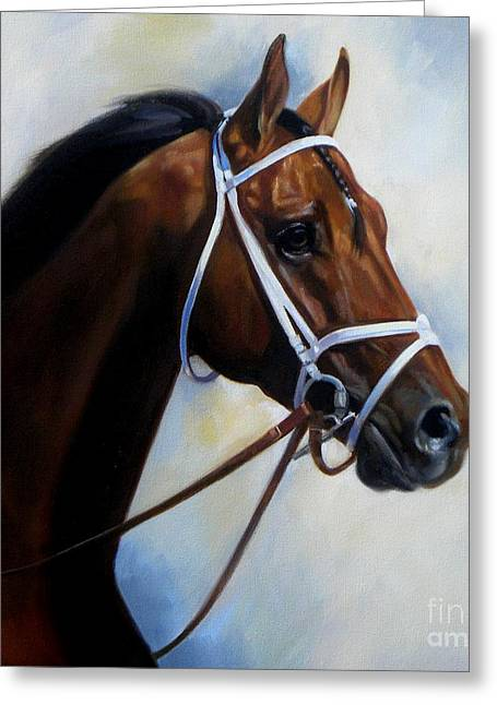 Race Horse Greeting Cards - My Palace for a Horse Greeting Card by Janet  Crawford