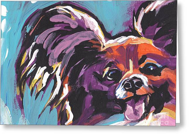 Papillon Dog Greeting Cards - My Pappy Greeting Card by Lea