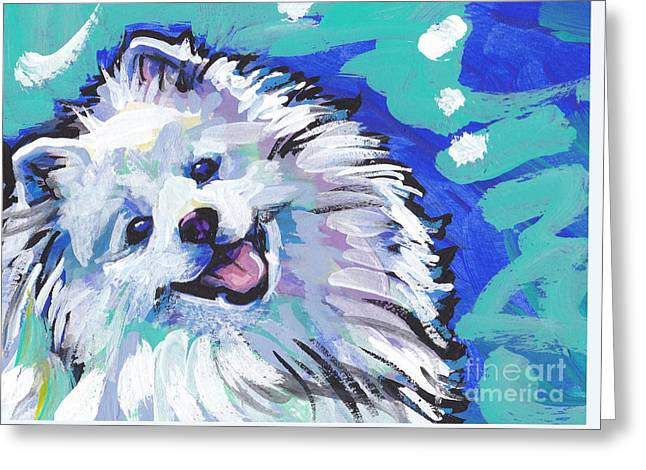 Dog Portraits Greeting Cards - My Peskie Eskie Greeting Card by Lea