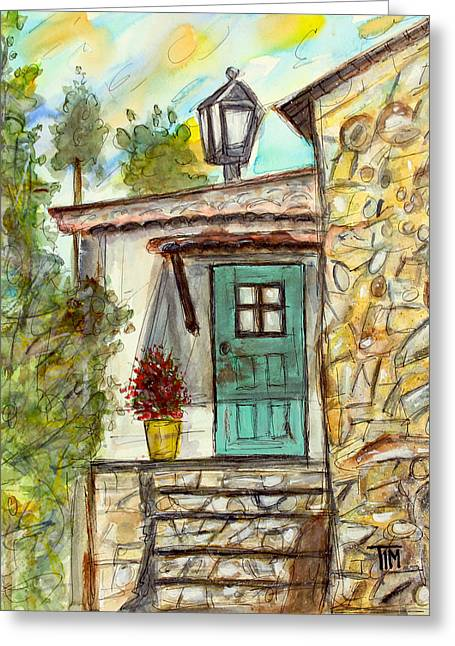 Tim Ross Greeting Cards - My Piece of Portugal Greeting Card by Tim Ross