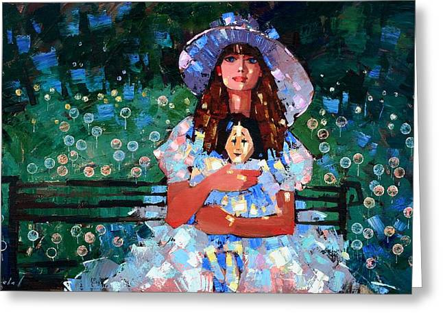 A Summer Evening Greeting Cards - My Pierrot Greeting Card by Anastasija Kraineva