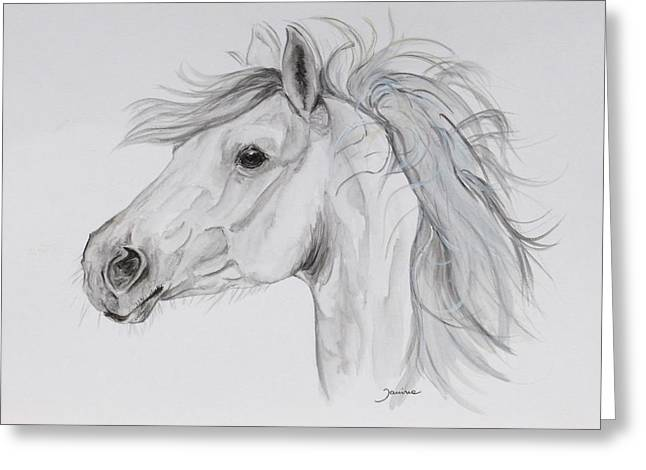Janina Suuronen Art Greeting Cards - My pony Greeting Card by Janina  Suuronen