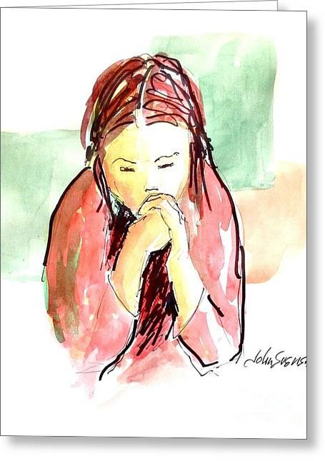 John Svenson Greeting Cards - My Prayer Greeting Card by John  Svenson