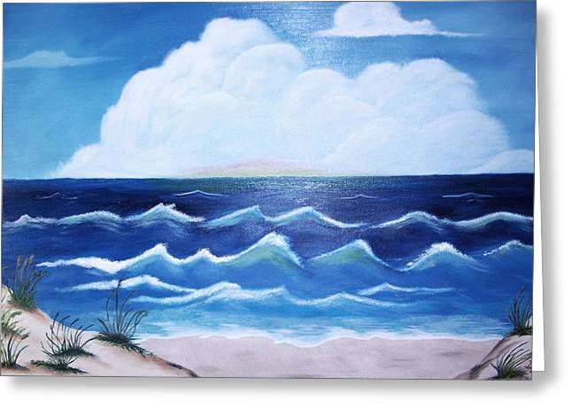 Sanddunes Paintings Greeting Cards - My Private Beach Greeting Card by Dwayne Barnes