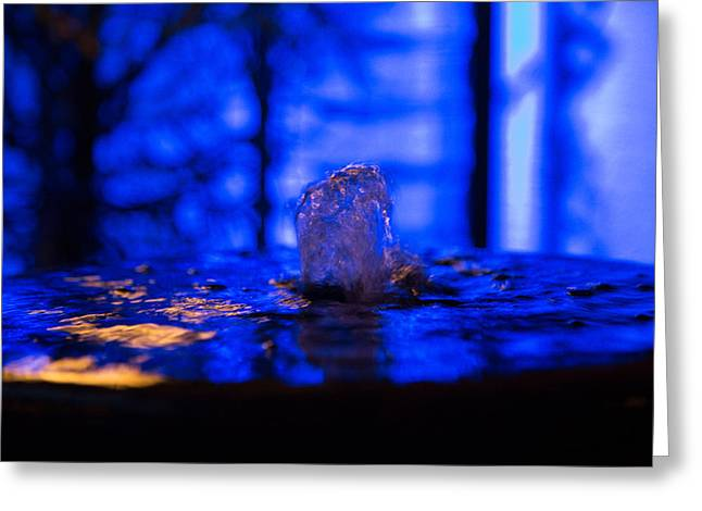 Abstract Fountain Of Youth Greeting Cards - My Private Fountain Greeting Card by Darrell Hutto