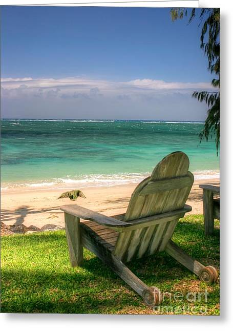 Maui Greeting Cards - My Retirement Chair Greeting Card by Andy Jackson