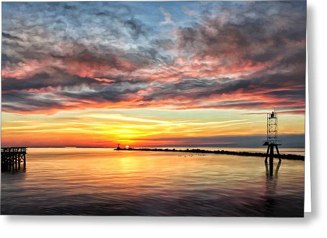 Eastern Shore Greeting Cards - My Return to Cape Charles Virginia Greeting Card by Michael Pickett