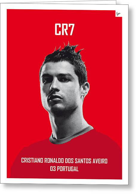 My Ronaldo Soccer Legend Poster Greeting Card by Chungkong Art
