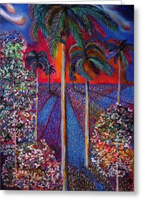 Lorenzo Muriedas Greeting Cards - My Royal Palm Greeting Card by Lorenzo Muriedas