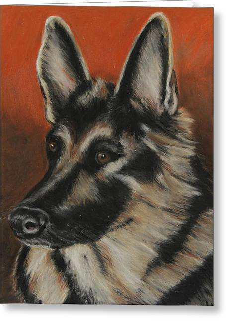Expression Pastels Greeting Cards - My Sadie Greeting Card by Jeanne Fischer
