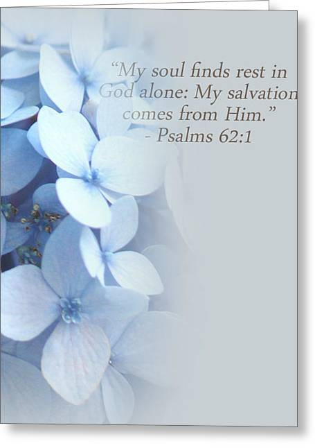 Faith Greeting Cards - My Salvation Greeting Card by  The Art Of Marilyn Ridoutt-Greene