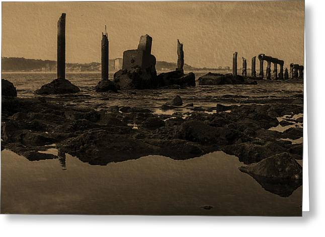 My Sea Of Ruins III Greeting Card by Marco Oliveira
