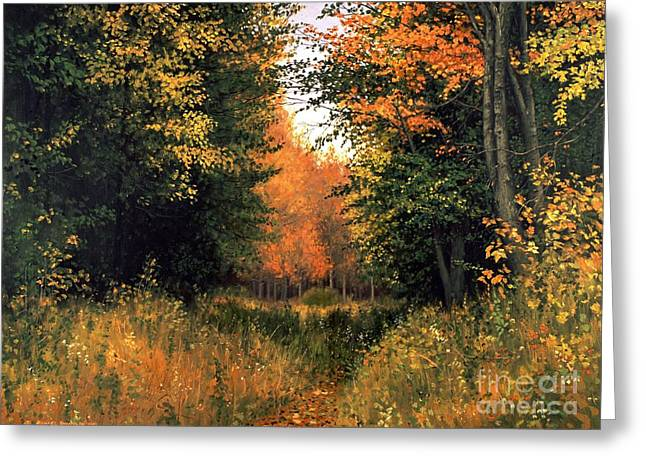 Aspens In Autumn Leaves Greeting Cards - My Secret Autumn Place Greeting Card by Michael Swanson