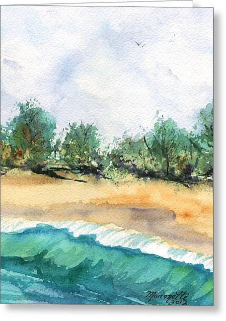 My Ocean Greeting Cards - My Secret Beach Greeting Card by Marionette Taboniar