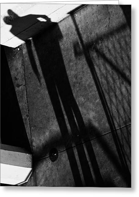 Wall Street Greeting Cards - My Shadows Longed  Greeting Card by Jerry Cordeiro