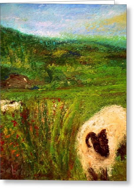 Pasture Pastels Greeting Cards - My Sheep Greeting Card by Beth Sebring